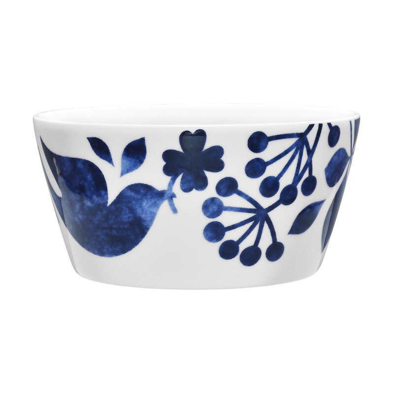 Sandefjord 25 oz. Cereal Bowl and more inspiring decorating ideas in Indigo Blue Mood: Decor Accents, Paint Colors & Blue Moments in My Home on Hello Lovely.