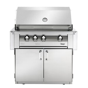 Vintage 3-Burner Built-In Convertible Gas Grill