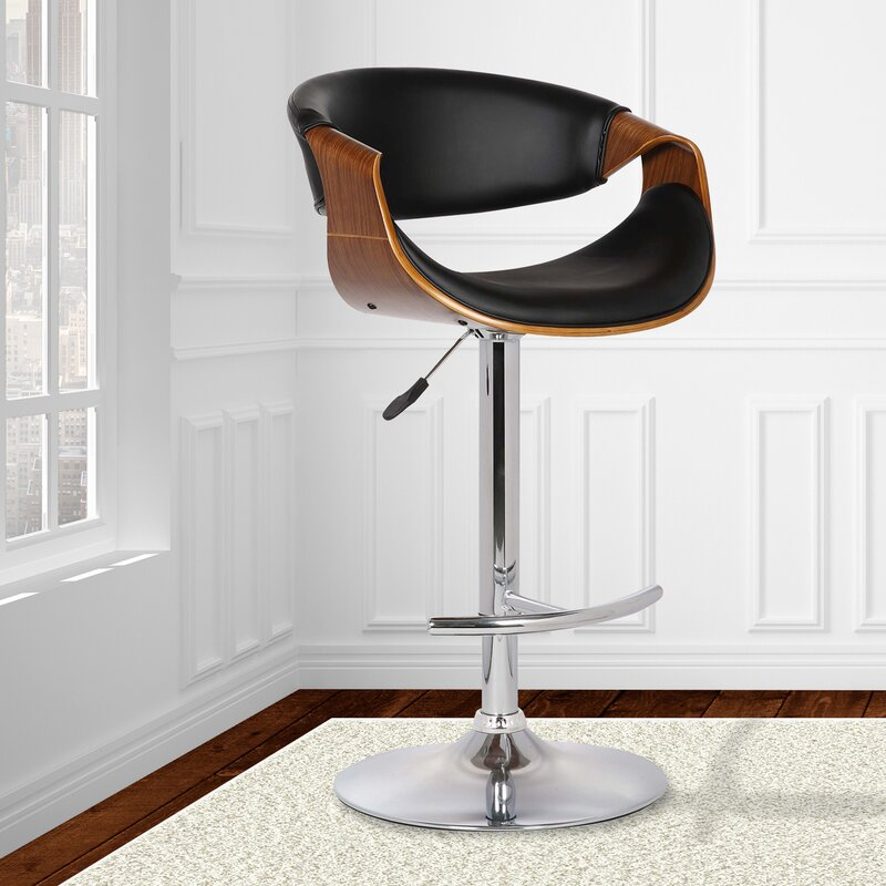 adjustable height chair. Adjustable Height Swivel Bar Stool With Cushion Chair E