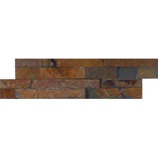 Gold Rush Slate Random Size Slate Splitface Tile in Brown