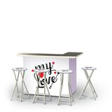 Zaphod Valentines My Love 5-Piece Bar Set