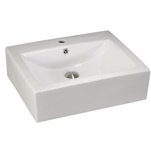 Check Prices Above Counter Porcelain Square Vessel Bathroom Sink By Lenova