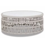 Dana Coffee Table With Honed Carrara Marble Top