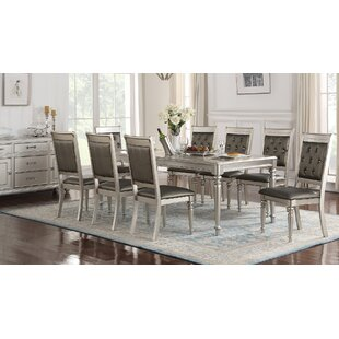 Hawking 9 Piece Drop Leaf Solid Wood Dining Set