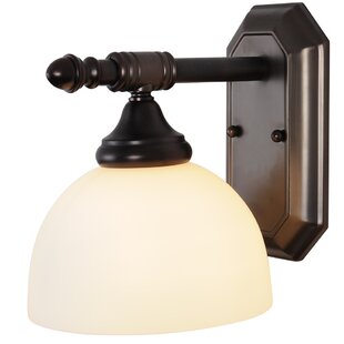 Decorative 1-Light Bath Sconce by Monument