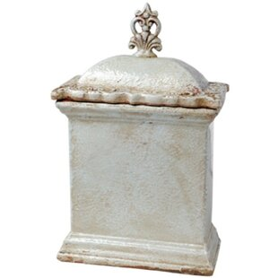 Short Rectangular Ceramic Lidded Kitchen Canister