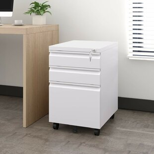 Hamil 3 Drawer Mobile Vertical Filing Cabinet