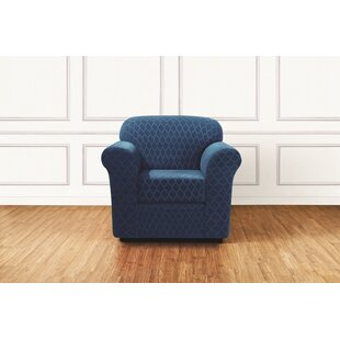 Stretch Grand Marrakesh Box Cushion Armchair Slipcover