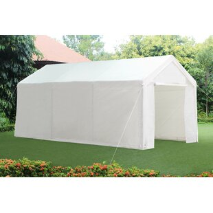10 Ft. W x 20 Ft. D Steel Carport Party Tent Canopy by Sunjoy