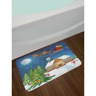 Multi Christmas Bath Rug