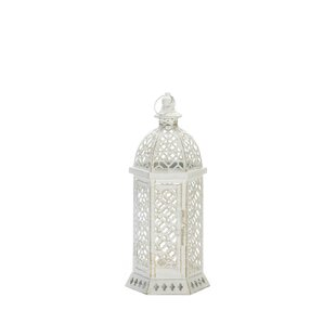 Cutwork Hexagon Glass/Metal Lantern by Ophelia & Co.