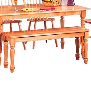 August Grove Harms Transitional Dining Wood Bench