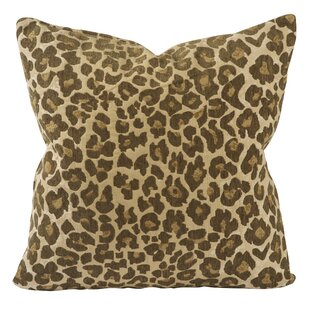 Classic Leopard Print Jacquard Throw Pillow