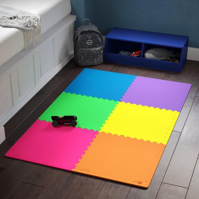 Zoomie kids gendt anti fatigue interlocking flooring mat set wayfair