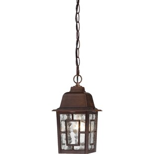 Compare prices Timmons 1-Light Outdoor Hanging Lantern By Charlton Home