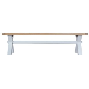 Buckley Small Cross Wood Bench By Beachcrest Home