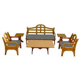 Burliegh 6 Piece Sunbrella Sofa Set with Cushions by Loon Peak