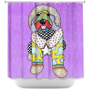 Labradoodle Dog Single Shower Curtain