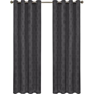 Little Italy Geometric Blackout Thermal Grommet Single Curtain Panel