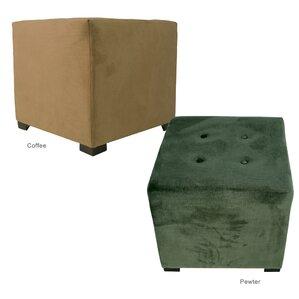 Merton Ennis Upholstered Cube Ottoman by MJL Furniture