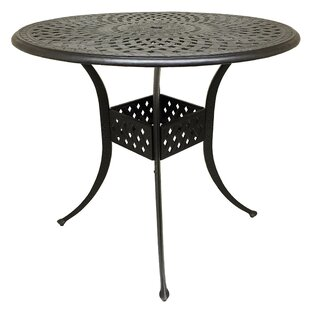 Campion Metal Bar Table by Fleur De Lis Living