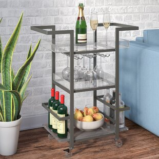 Wade Logan Sloane 3 Tier Bar Cart