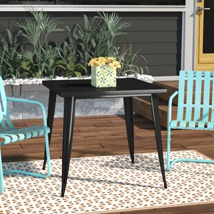 Caleigh Metal Square Dining Table