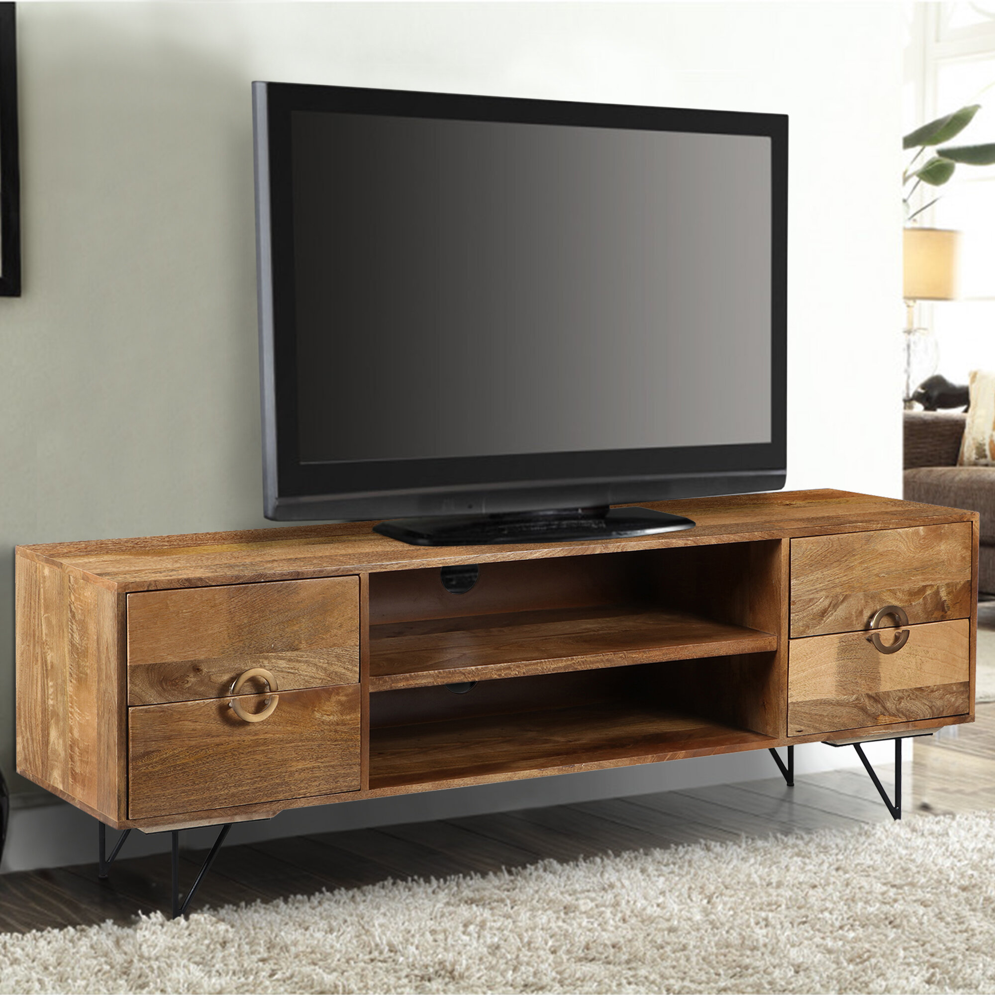 Union Rustic Rodin Solid Wood Tv Stand