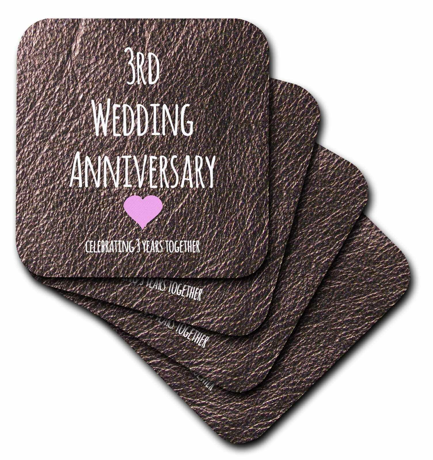 Winston Porter 3rd Wedding Anniversary Gift Ceramic Tile Coaster Wayfair