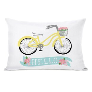 Angeles Hello Bicycle Lumbar Pillow