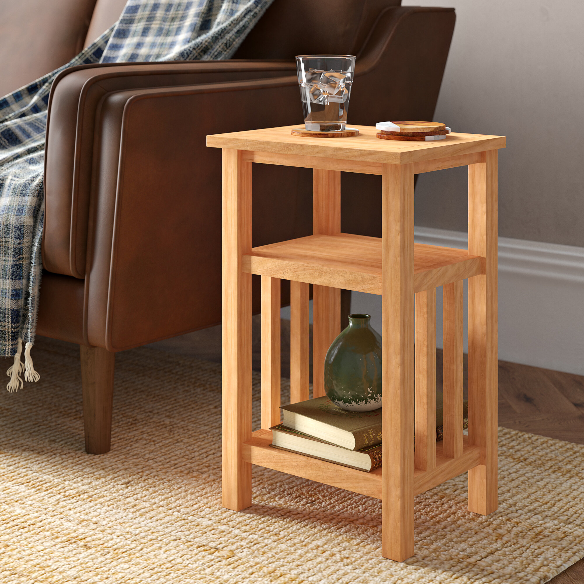 Light Wood Millwood Pines End Side Tables You Ll Love In 2021 Wayfair