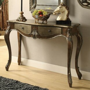 Trommald 2 Drawer Wooden Console Table