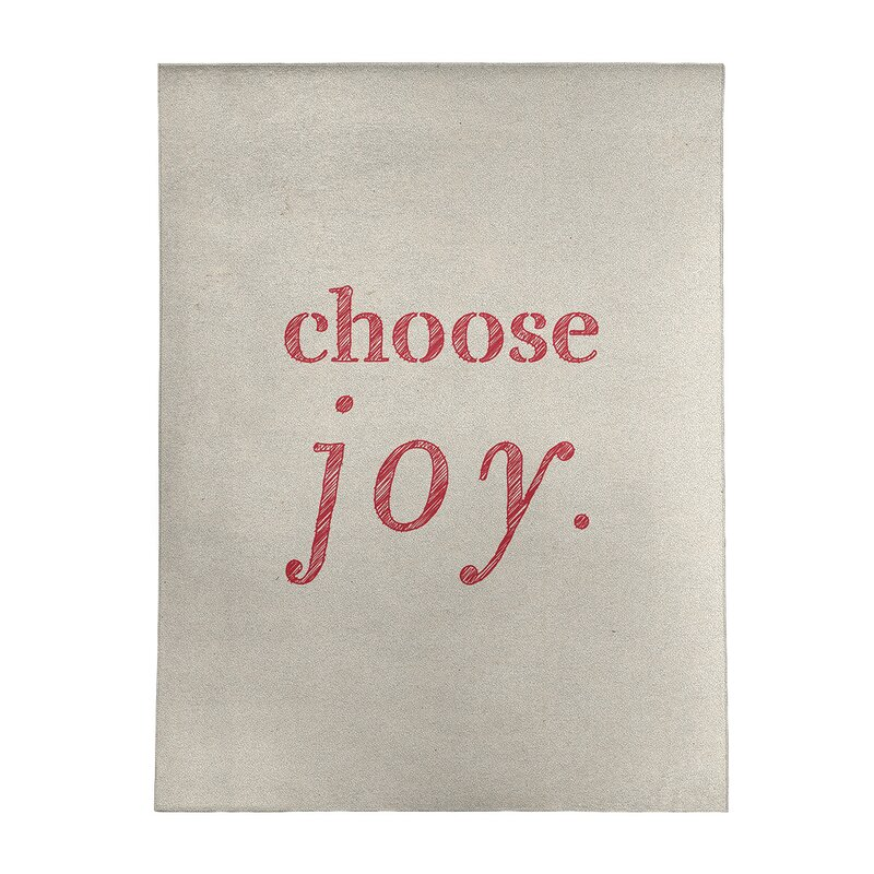 East Urban Home Handwritten Choose Joy Quote Poly Chenille Rug Wayfair