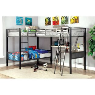 Shopping for Hank Twin Triple L-Shaped Bunk Bed with Desk by Zoomie Kids Reviews (2019) & Buyer's Guide