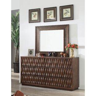 Pinnix 6 Drawer Double Dresser with Mirror