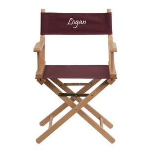 Maximus Embroidered Standard Height Folding Director Chair