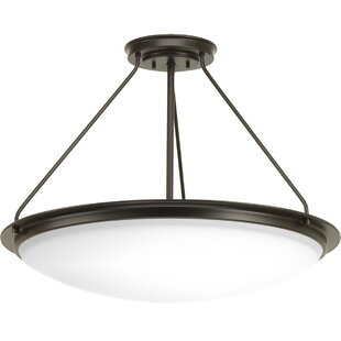 Vanderhoff 1-Light Semi Flush Mount by Winston Porter