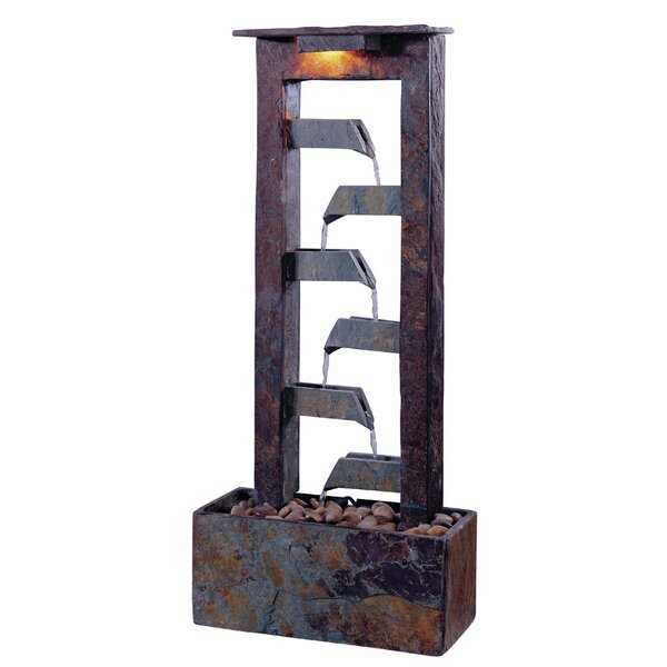 Wildon Home ® Natural Stone Aqueduct Slate Tabletop Fountain U0026 Reviews |  Wayfair