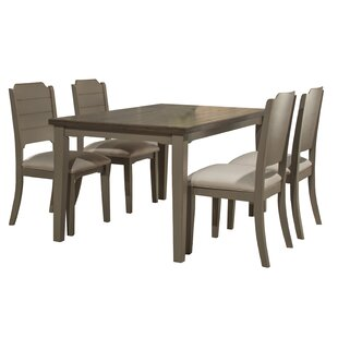 Kinsey 5 Piece Gray Wire Brush Dining Set..