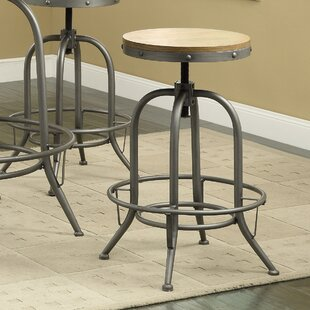 Boricco Adjustable Height Bar Stool (Set of 2) Trent Austin Design