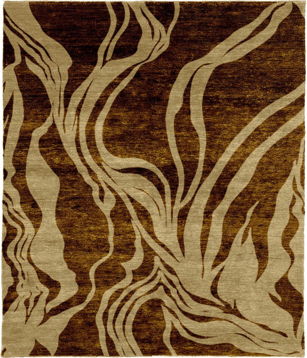 Brayden Studio One Of A Kind Eldora Hand Knotted Brown 8 X 10 Wool Area Rug Wayfair