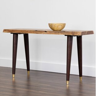 Sunpan Modern Atlas Live Edge Console Table