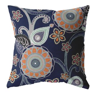 Strasburg Muted Floral Circles Throw Pillow