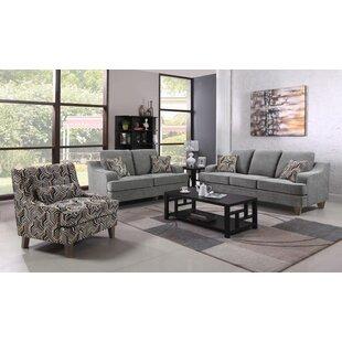 Brayden Studio Mersey 3 Piece Living Room..