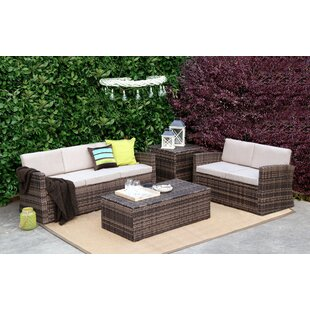 5 Piece Sofa Set with Cushions by Baner Garden
