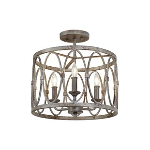 Cavana 3-Light Semi-Flush Mount