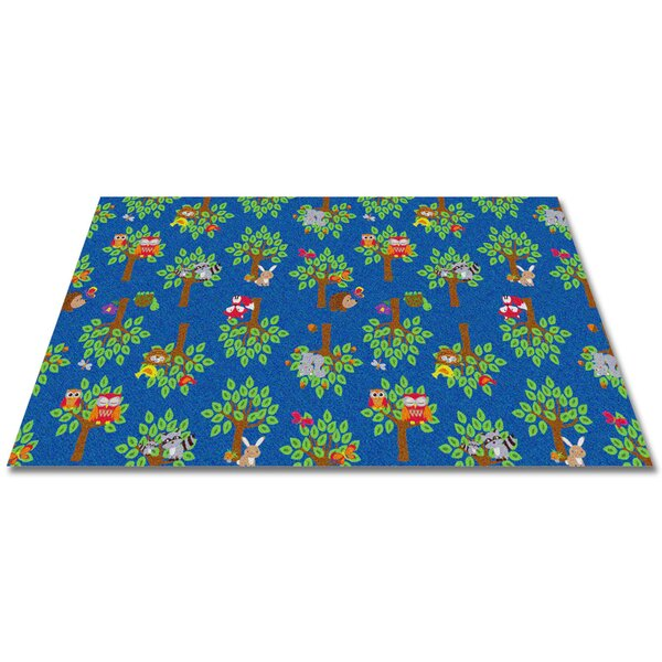 kid carpet woodland wonders animal blue green area rug reviews