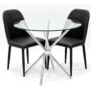 Criss Cross Dining Set With 2 Chairs By House Additions