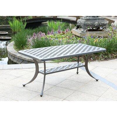 Waddington Aluminum Coffee Table by Fleur De Lis Living Design