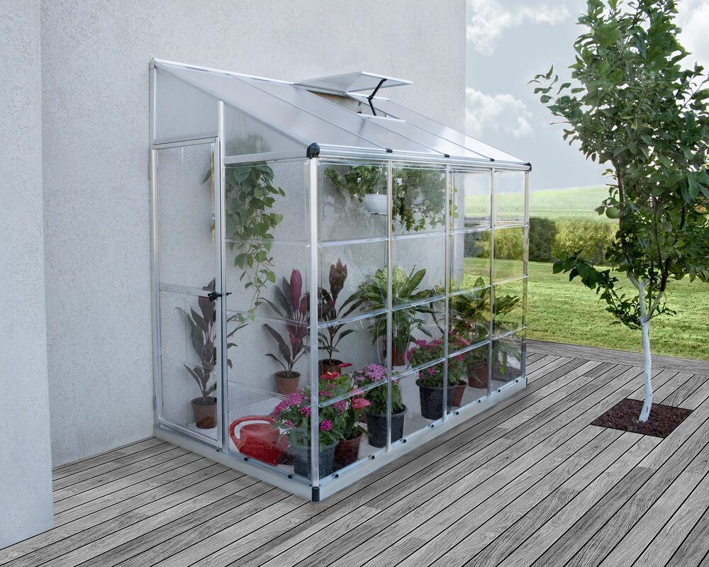 Palram Nature 4 Ft. W x 8 Ft. D Lean-To Greenhouse & Reviews | Wayfair